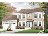 Colonial House Plans | Two-Story Colonial Home Plan #027H ...