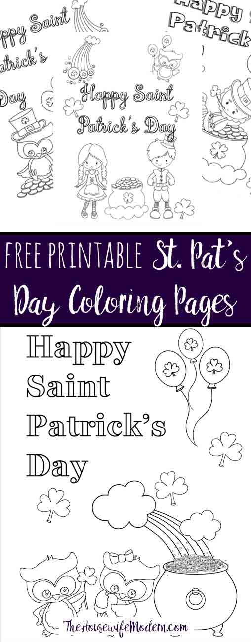 Free Printable St Patrick\u0027s Day Coloring Pages 4 Designs!
