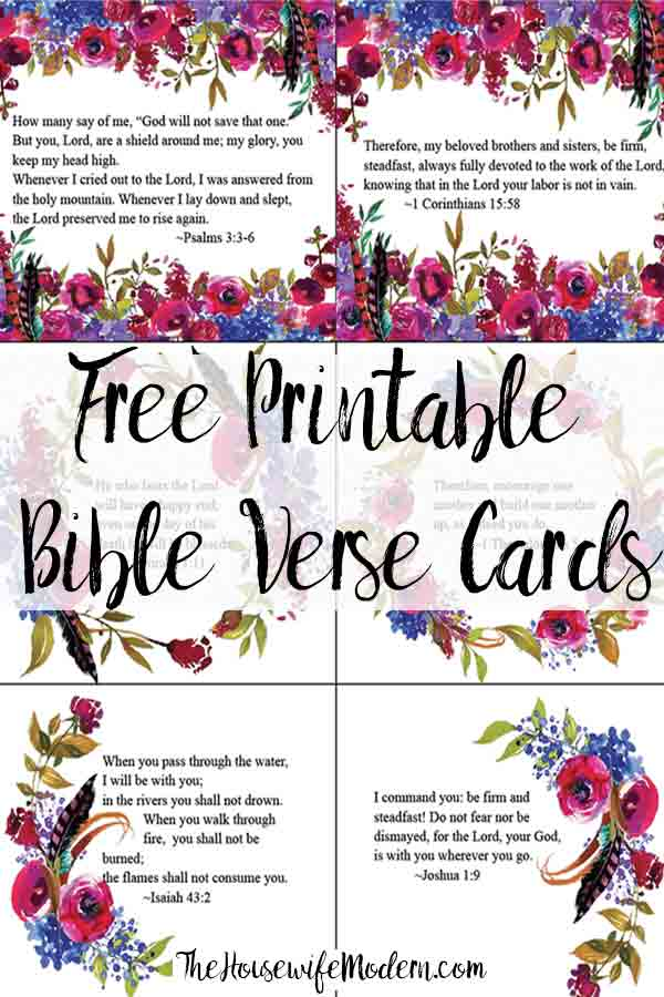 Free Printable Bible Verse Cards for When You Need Encouragement