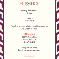 Event Alert: Back to School Sip & Shop