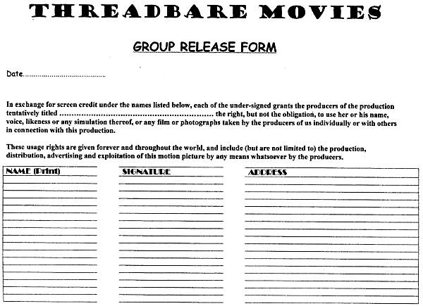 Video Maker\u0027s Journey - 16 - actor release forms