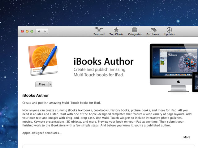 Apple updated iBooks Author app for Mac devices