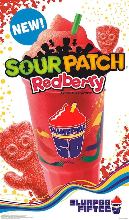 7 Eleven Sour Patch Redberry Slurpee