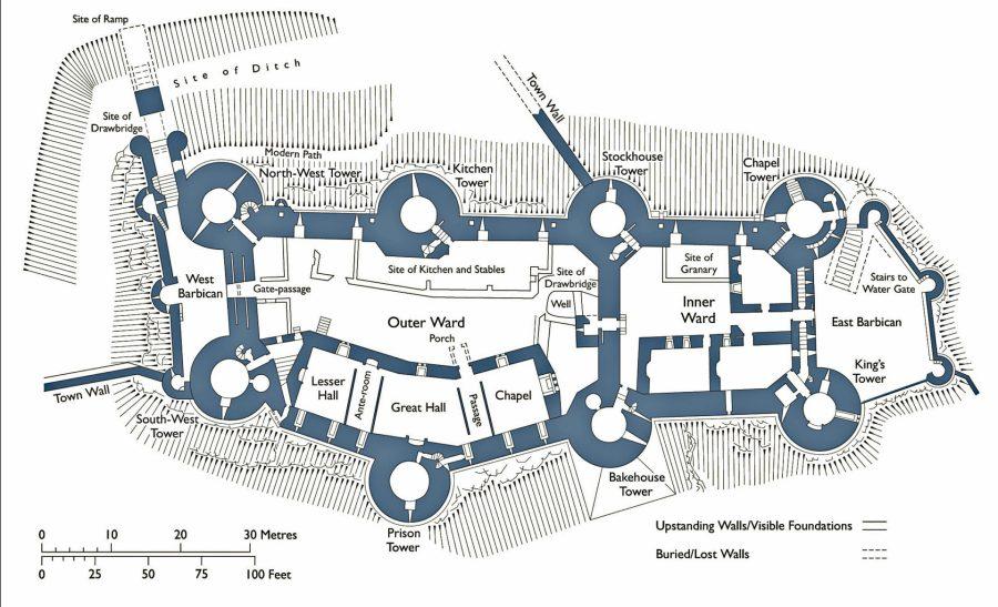 Conwy castle design