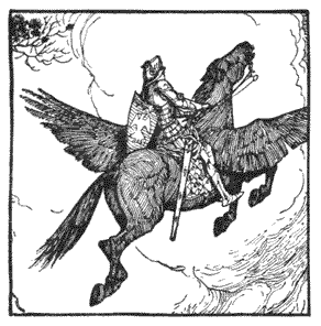 Făt-Frumos on his Flying Horse, Romania Folk Tales