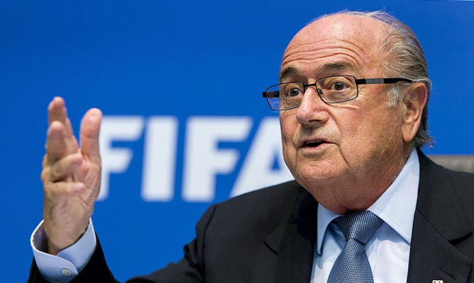 FIFA President Sepp Blatter. AFP PHOTO / FABRICE COFFRINIFABRICE COFFRINI/AFP/Getty Images