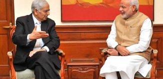 Mufti Mohammad Sayeed with Prime Minister Narendra Modi in New Delhi