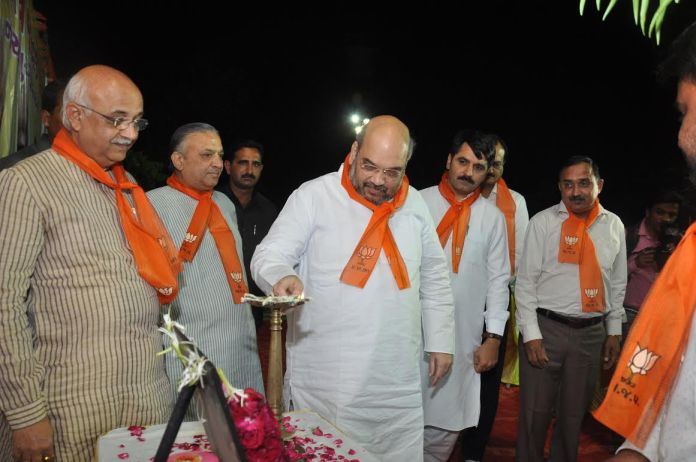 BJP workers in Amit Shah's assembly constituency Naranpura