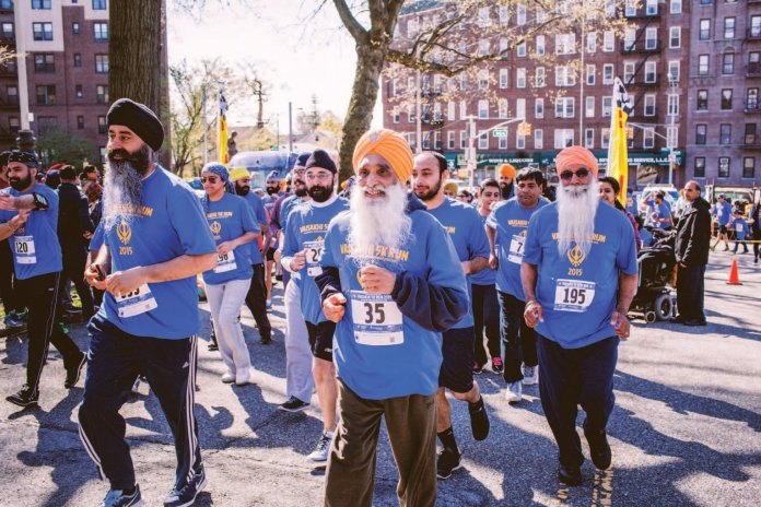 Vaisakhi 5 K Sikh Run 2015 a great attraction in New York, united States