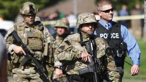 Oregon shooting Police in Action
