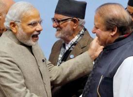 File image of Narendra Modi with Pakistan PM Nawaz Sharif