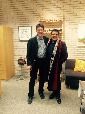 Manav Gupta (right) with a friend