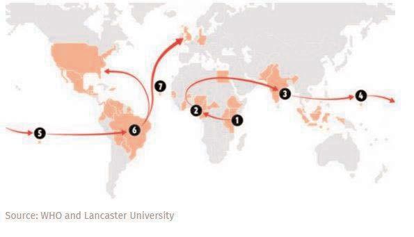 Zika virus spread - Source WHO