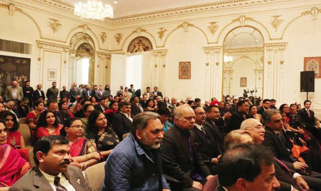 A view of the gathering at the Indian Consulate on February 14