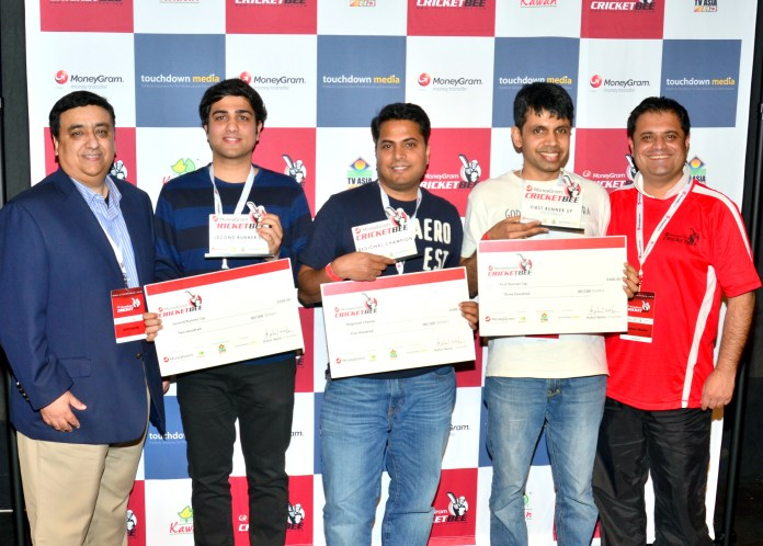 The winners of Bay Area regional of MoneyGram Cricket Bee with Rahul Walia, Founder of the Cricket Bee (extreme right)