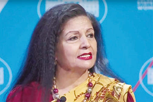 UN Women Deputy Executive Director Lakshmi Puri speaks at the United State of Women Summit at the White House, June 14