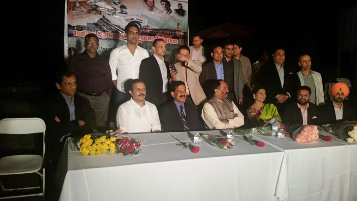 INOC members at the inauguration of Telangana chapter with senior leaders from Telangana