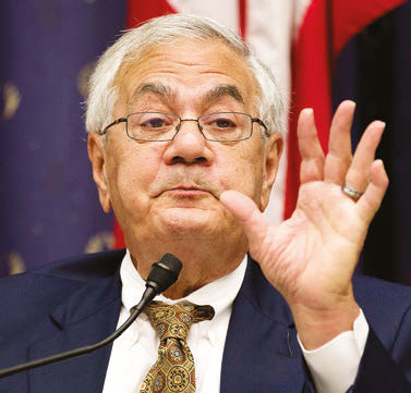 Former Congressman Barney Frank criticized presumptive Republican nominee Donald Trump as self-indulgent and immature, saying that he