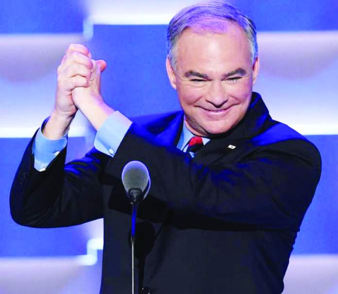 Tim Kaine is the running mate of Hillary Clinton