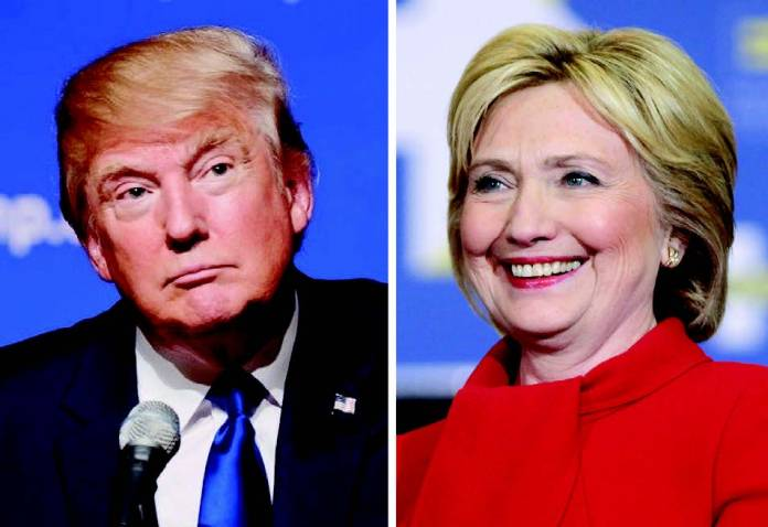 A new Fox News poll shows Democrat Hillary Clinton leading Republican Donald Trump by 10 points.