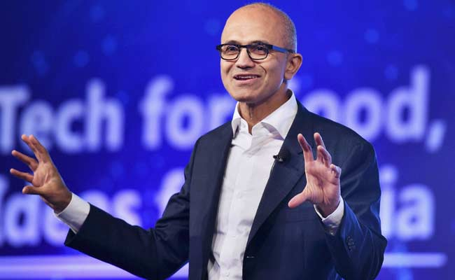 Microsoft's Satya Nadella feels artificial intelligence-powered bots will become next interface. (File)