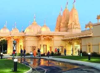 The impressive Temple building