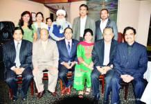 Raja Krishnamoorthi seen here with the hosts [L to R seated] Dr. Vijay Prabhakar, Iftekhar Shareef, Sanhita Agnihotri, Ajai Agnihotri, Keerthi Ravoori [Standing L to R] Shirley Kalvakota, Poonam Gupta, Nazneen Hashmi, Daljit Singh, Babu Patel & Dr. Hyder Mohammed.