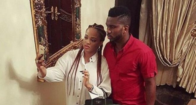 See what Joseph Yobo's wife wore for their dinner date (Photos)