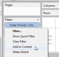 'Add to Context' will create a temp table in your source
