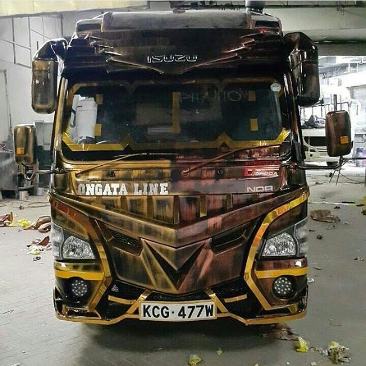 Exclusive pictures of Phantom: The 'Batmobile Matatu'