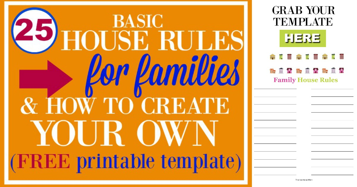 25 Basic House Rules For Families  How to Create Your Own