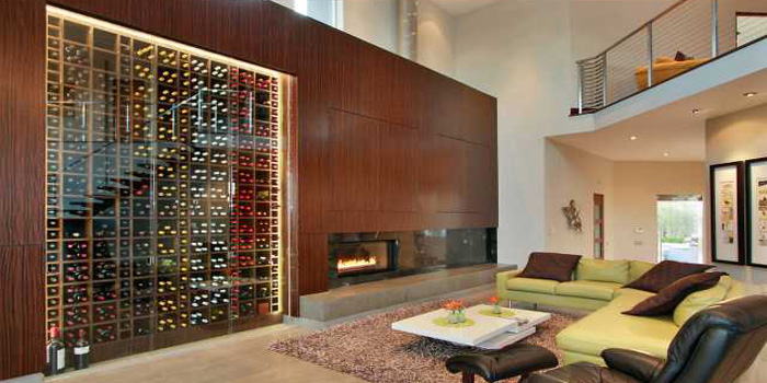 Modern-Wine-Cellar Wine Country Living Pinterest - wohnzimmer mit galerie modern