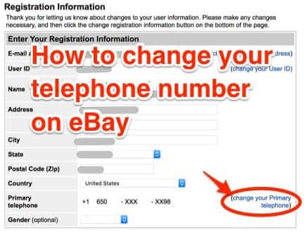 How to Change or Update Your Phone Number in Your eBay Account