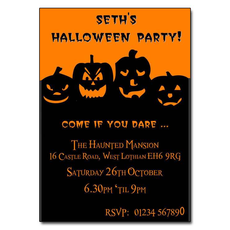 Pumpkin Patch Halloween Party Invitations - halloween invitation