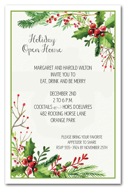 holiday open house invites - Akbagreenw