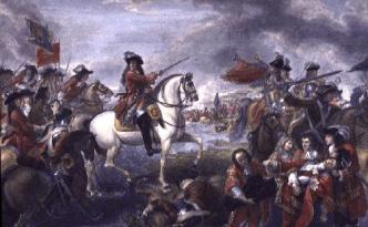 William depicted crossing the Boyne