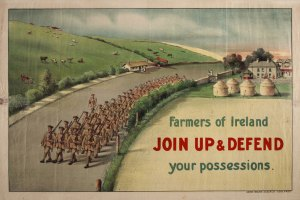 Farmers-of-Ireland-join-up-and-defend-your-possessions---first-world-war-recruitment-poster