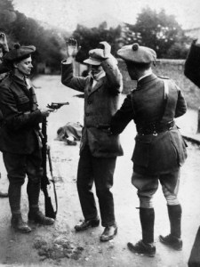 A staged picture taken in Dalkey, County Dublin, purporting to be 'the battle of Tralee' in November 1920.