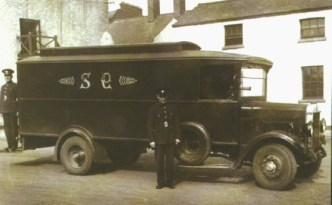 A Garda van in the 1930s.
