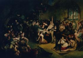 'The Installation of Captain Rock' a 19th century painting.