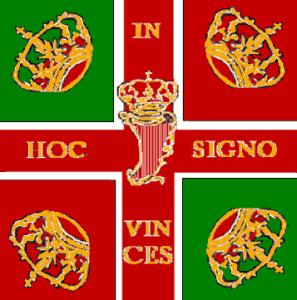 The banner of the Irish Brigade.