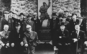 The Rineen ambush memorial at its opening in 1957.
