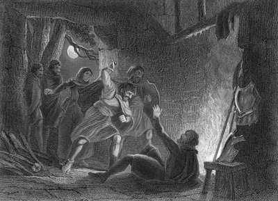A depiction of the death of the earl of Desmond.