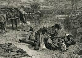 A depiction of roadside murder during the Land War.