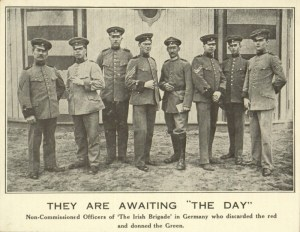 Soldiers from Germany's 'Irish Brigade'.