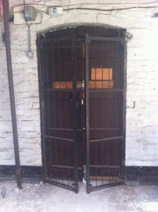A holding cell at the CID's Oriel House (Courtesy of the Irish Volunteers website).