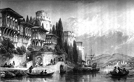 The Bosphorus with the Castles of Europe and Asia. (image Wikipedia).
