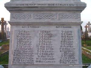 The memorial to the IRA Third Tipperary Brigade.