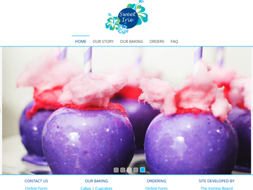 Sweet Irie Cakes & Sweets - Full Page Website Design