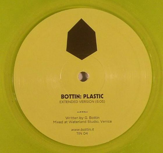 Bottin - Plastic (Tin) (In Flagranti Remix) (clear yellow vinyl laser disco house)